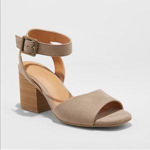 Universal Thread ankle strap heeled pump sandals